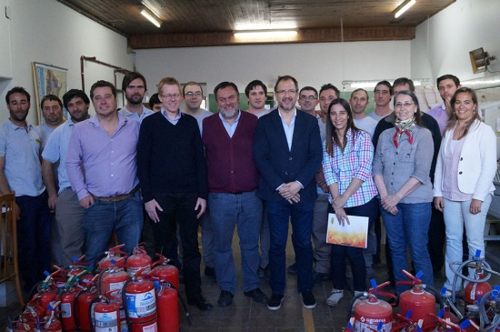 El presidente del Banco Provincia visita el taller de Sodago